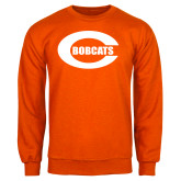 Orange Fleece Crew-C - Bobcats