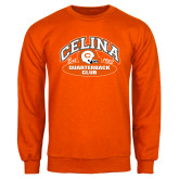 Orange Fleece Crew-Celina Quarterback Club