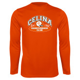 Performance Orange Longsleeve Shirt-Celina Quarterback Club