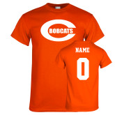 Orange T Shirt-C - Bobcats, Custom tee w/ name and #
