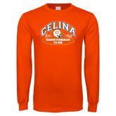Orange Long Sleeve T Shirt-Celina Quarterback Club