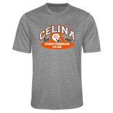 Performance Grey Heather Contender Tee-Celina Quarterback Club