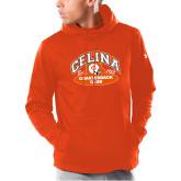 Under Armour Orange Armour Fleece Hoodie-Celina Quarterback Club