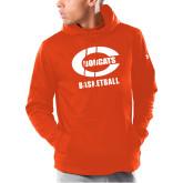 Under Armour Orange Armour Fleece Hoodie-Basketball