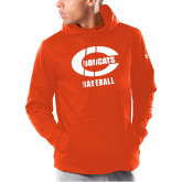 Under Armour Orange Armour Fleece Hoodie-Baseball
