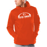 Under Armour Orange Armour Fleece Hoodie-Football Arch
