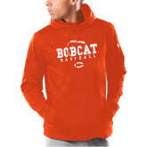 Under Armour Orange Armour Fleece Hoodie-Baseball Seams