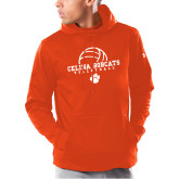 Under Armour Orange Armour Fleece Hoodie-Volleyball Ball