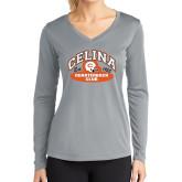 Ladies Syntrel Performance Platinum Longsleeve Shirt-Celina Quarterback Club