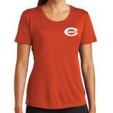 Ladies Syntrel Performance Orange Tee-C - Bobcats