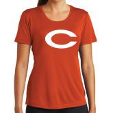 Ladies Syntrel Performance Orange Tee-C