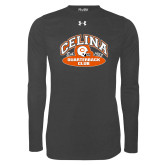 Under Armour Carbon Heather Long Sleeve Tech Tee-Celina Quarterback Club