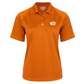 Ladies Orange Textured Saddle Shoulder Polo-C - Bobcats