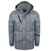 Grey Brushstroke Print Insulated Jacket-C - Bobcats