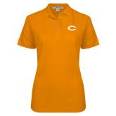 Ladies Easycare Orange Pique Polo-C