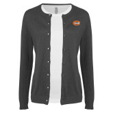 Ladies Charcoal Cardigan-C - Bobcats