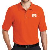 Orange Easycare Pique Polo-C - Bobcats