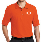 Orange Easycare Pique Polo-C