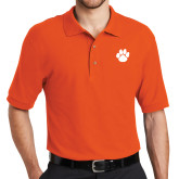 Orange Easycare Pique Polo-Paw