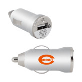 On the Go Silver Car Charger-C - Bobcats