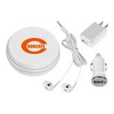 3 in 1 White Audio Travel Kit-C - Bobcats