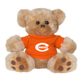 Plush Big Paw 8 1/2 inch Brown Bear w/Orange Shirt-C - Bobcats