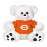 Plush Big Paw 8 1/2 inch White Bear w/Orange Shirt-C - Bobcats