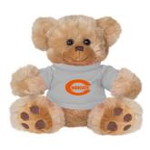 Plush Big Paw 8 1/2 inch Brown Bear w/Grey Shirt-C - Bobcats