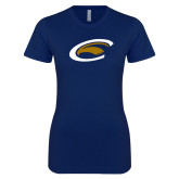 Next Level Ladies SoftStyle Junior Fitted Navy Tee-C Eagle