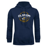 Navy Fleece Hoodie-Clarion Basketball Arched