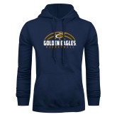 Navy Fleece Hoodie-Golden Eagles Basketball Half Ball
