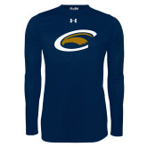 Under Armour Navy Long Sleeve Tech Tee-C Eagle