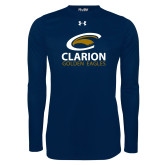 Under Armour Navy Long Sleeve Tech Tee-Clarion Golden Eagles