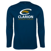Performance Navy Longsleeve Shirt-Clarion Golden Eagles