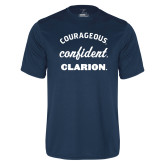 Performance Navy Tee-Courageous Confident Clarion