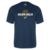 Performance Navy Tee-Golden Eagles Volleyball Half Ball