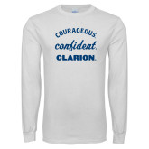 White Long Sleeve T Shirt-Courageous Confident Clarion