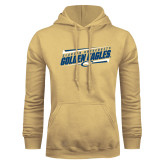 Champion Vegas Gold Fleece Hoodie-Slanted Golden Eagles Stencil