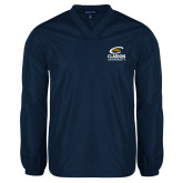 V Neck Navy Raglan Windshirt-Primary Mark