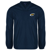 V Neck Navy Raglan Windshirt-C Eagle
