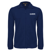 Fleece Full Zip Navy Jacket-Clarion University