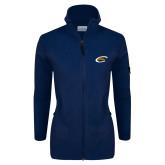 Columbia Ladies Full Zip Navy Fleece Jacket-C Eagle