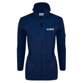 Columbia Ladies Full Zip Navy Fleece Jacket-Clarion University