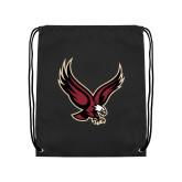 Black Drawstring Backpack-Eagle