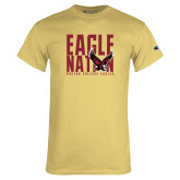 Champion Vegas Gold T Shirt-Eagle Nation