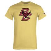 Champion Vegas Gold T Shirt-Primary Mark Distressed