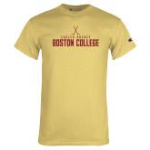Champion Vegas Gold T Shirt-Hockey Crossed Sticks