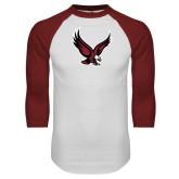 White/Cardinal Raglan Baseball T Shirt-Eagle