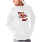 Under Armour White Armour Fleece Hoodie-Vintage Interlocking BC w/ Eagle