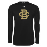 Under Armour Black Long Sleeve Tech Tee-Vintage Interlocking BC - One Color